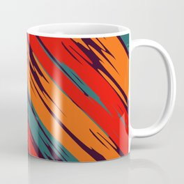 African Rustic Style, Purple stripes rustic seamless pattern Coffee Mug