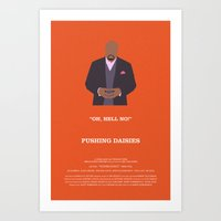 pushing daisies Art Prints featuring Pushing Daisies - Emerson by MacGuffin Designs