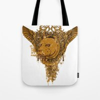 pitbull Tote Bags featuring Pitbull by Tshirt-Factory