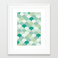 scales Framed Art Prints featuring SCALES by Sarah Stark
