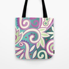 Summer leaves, soft pastels Tote Bag