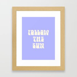 follow the sun - purple Framed Art Print
