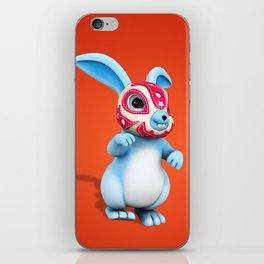 Lucha Rabbit-Blue Brother iPhone Skin