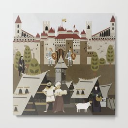 Castle and its villages Metal Print