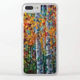 Aspen Trees - 1 Clear iPhone Case