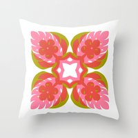 quilt Throw Pillows featuring quilt  by your mom