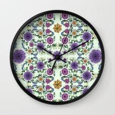 Purple Bloom Wall Clock