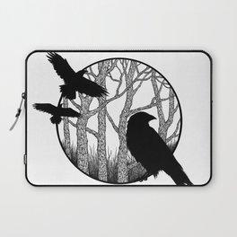 Black Birds II Laptop Sleeve