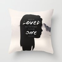 paper towns Throw Pillows featuring Paper Towns: Maybe she loved mysteries so much by karifree