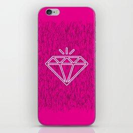 diamond magenta iPhone Skin