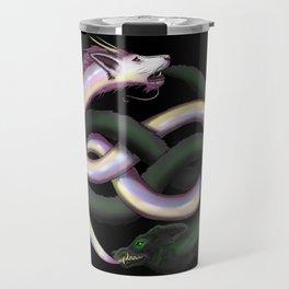Wolf and Dragon Travel Mug
