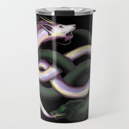 Wolf and Dragon Travel Mug