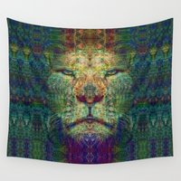the lion king Wall Tapestries featuring Lion King by Zandonai