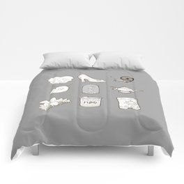 Happily Ever Afters in Gray Comforters