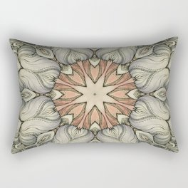 abstract flowers hand drawn and  kaleidoscope mandala Rectangular Pillow