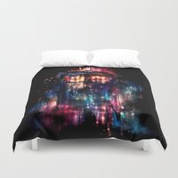 tardis Duvet Covers featuring All of Time and Space by Alice X. Zhang