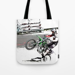 Making a Stand - Freestyle Motocross Rider Tote Bag