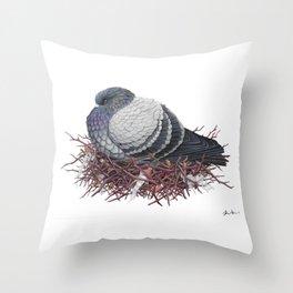 Rock Pigeon Throw Pillow