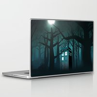 dumbledore Laptop & iPad Skins featuring Tardis in the Forest of The Night by neutrone