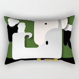 Green Santa Rectangular Pillow