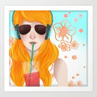 surving summer Art Print