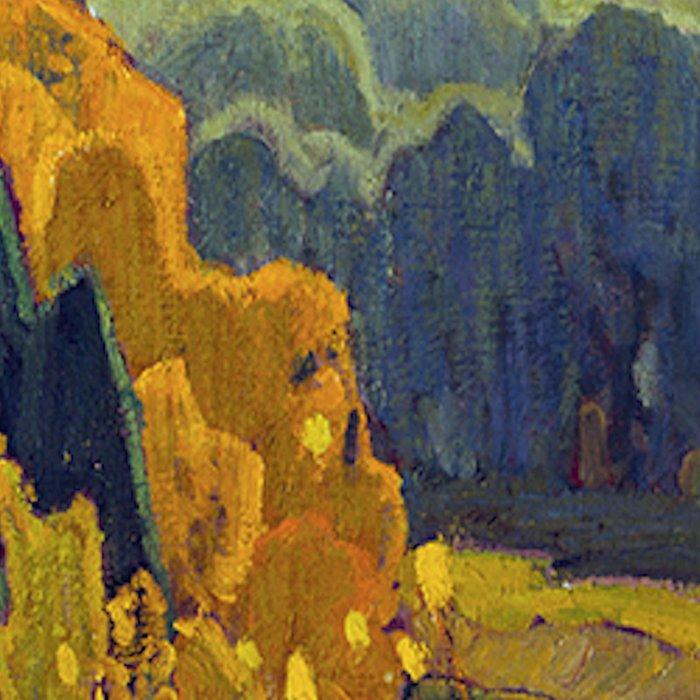 Franklin Carmichael Canadian artist Art Nouveau Post-Impressionism October Gold Leggings
