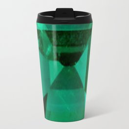 FACETED EMERALD GREEN MAY GEMSTONE Travel Mug