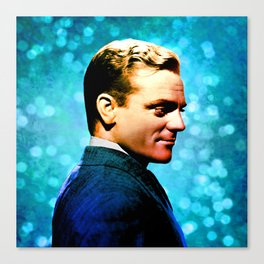 James Cagney, blue screen Canvas Print