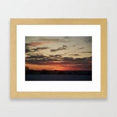 Norfolk Sunset in Snow Framed Art Print