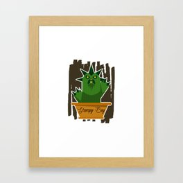 Cactus Grumpy Boy Framed Art Print