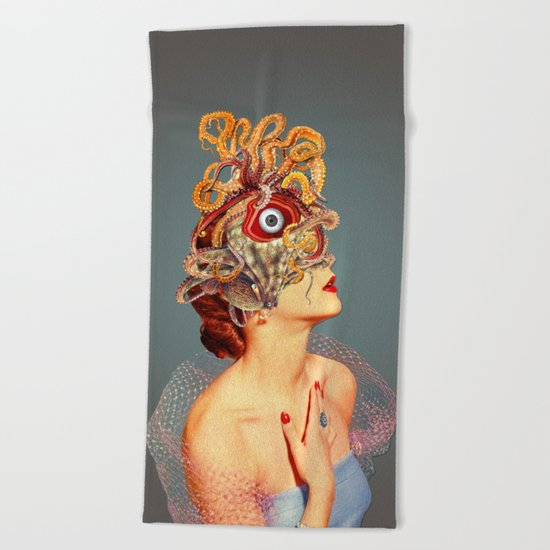 Freud vs Jung Beach Towel