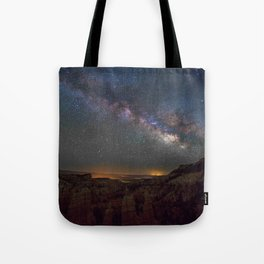 Fairyland Canyon Starry Night Photography Tote Bag