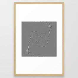 moire patterns Framed Art Print