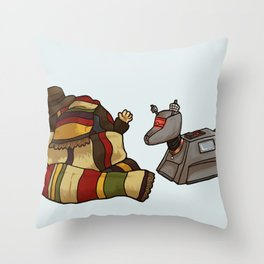 4th Doctor and K-9 Throw Pillow