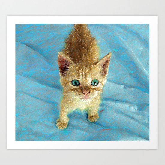 Cute Little Kitten  Art Print