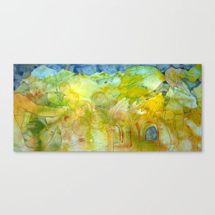 Annunciation: Post Canvas Print