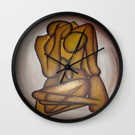 Abstract Lovers Wall Clock