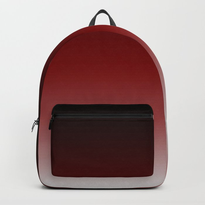 Tecumsehv - Black Red White Color Gradient Rucksack