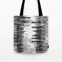 Polyline Distortion Tote Bag