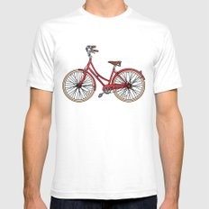 His Bicycle Mens Fitted Tee White SMALL