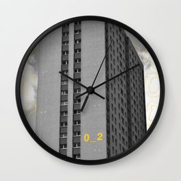 Yellow City 02 Wall Clock