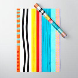 VERTICAL LINES ORGANIC RAINBOW Wrapping Paper