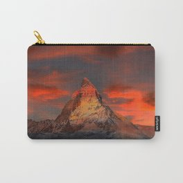 Iconic Alpine Mountain Matterhorn at Sunset Carry-All Pouch