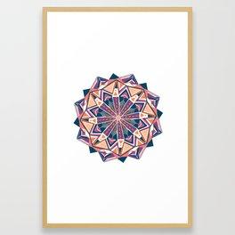 montana, mandala Framed Art Print
