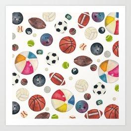 Sports fever Art Print