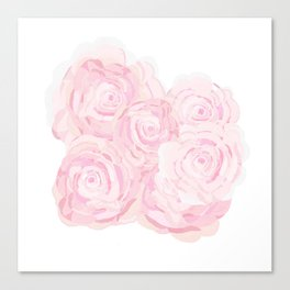 Shabby Chic Roes Canvas Print