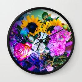 Disco Bouquet II Wall Clock