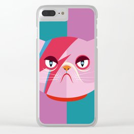 Glam cat Clear iPhone Case