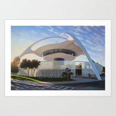 LAX Theme Building - Ground Level Art Print