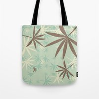 1d Tote Bags featuring Leaves 1D by Patterns of Life